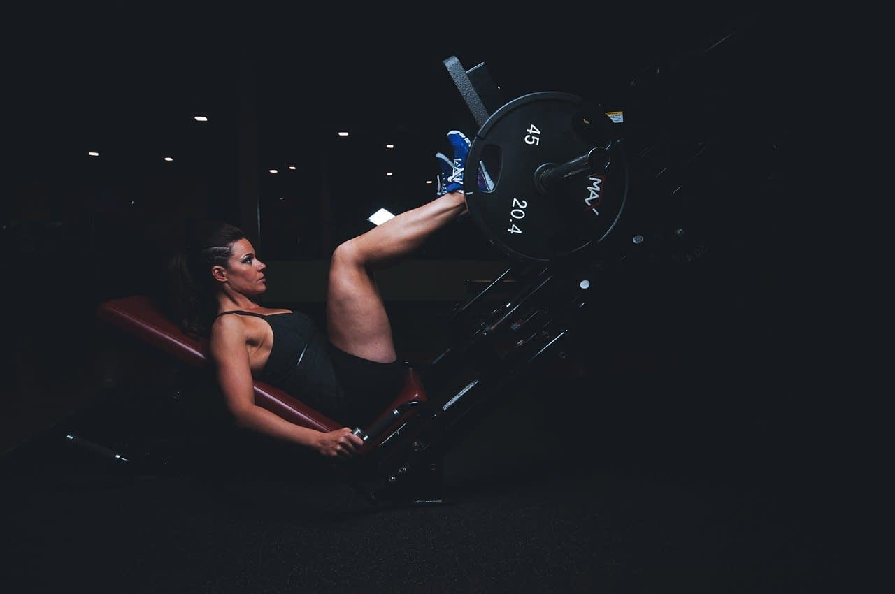 a woman in the gym